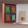Mille Parfums (coffret découverte de 4 sortes de thés parfumés et documentation)