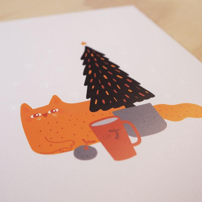 Carte & enveloppe: chat