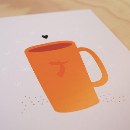 Carte & enveloppe: mug