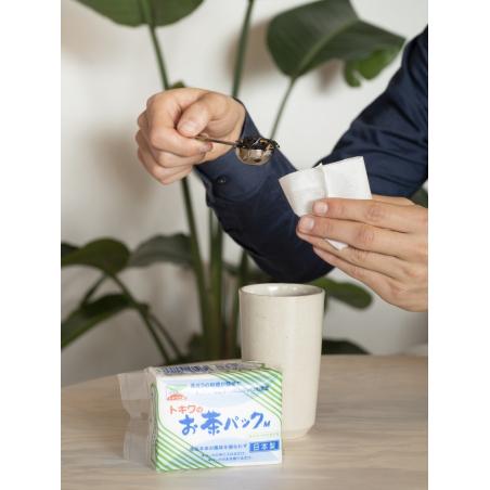 Filtre / sachet papier japonais fermable (60 pcs)